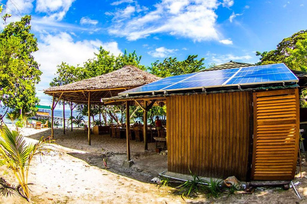 raja ampat resort solar station