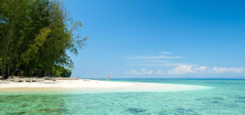 Strand Misool Insel - Raja Ampat Archipels