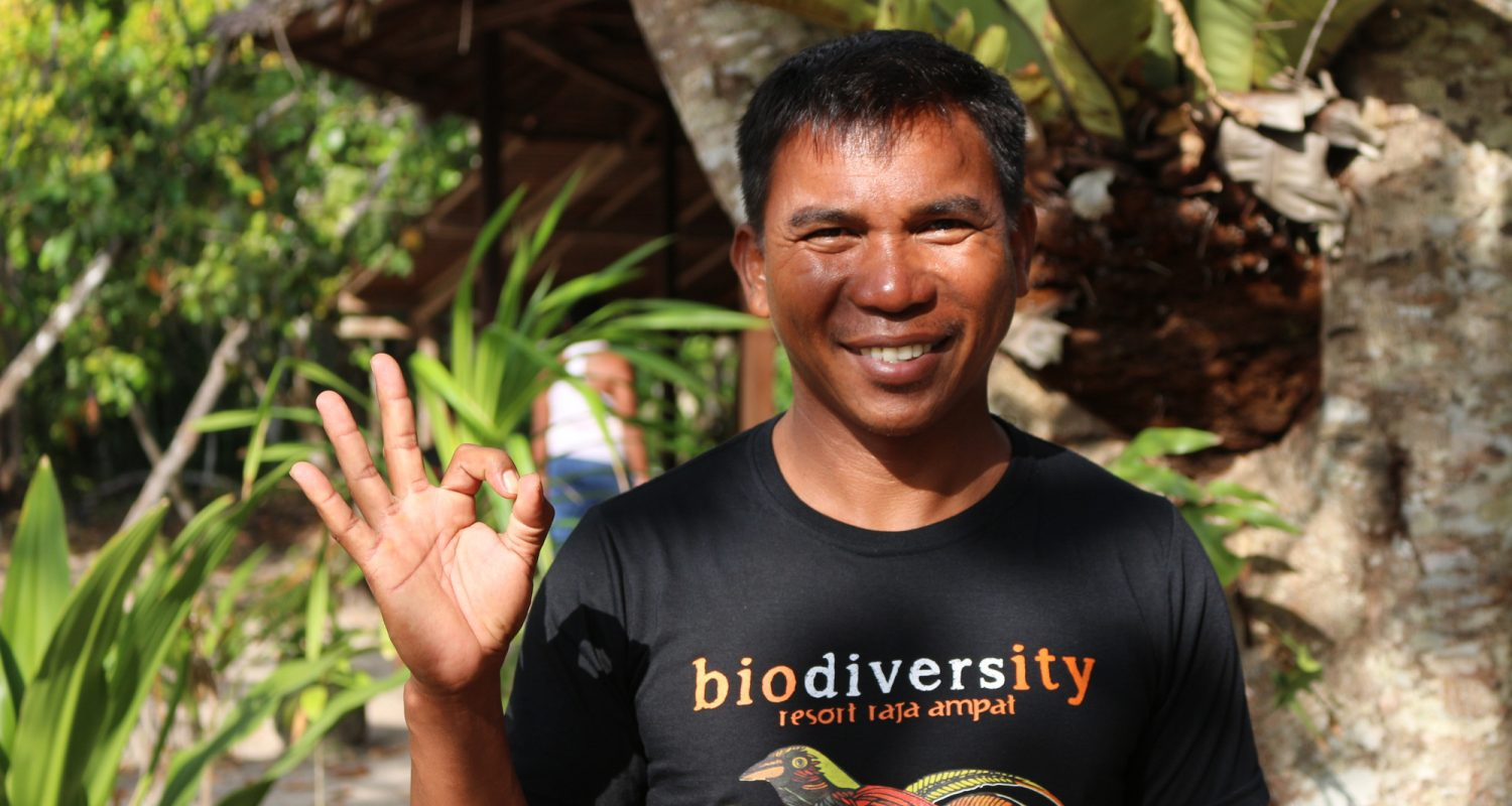 Nofri has been with Biodiversity since May 2017  and has been in the diving industry  for over 14 years. His many years of diving in Raja Ampat enables him to have full knowledge of all our dive sites, so he is able to find you the macro & micro marine life you wish to see.