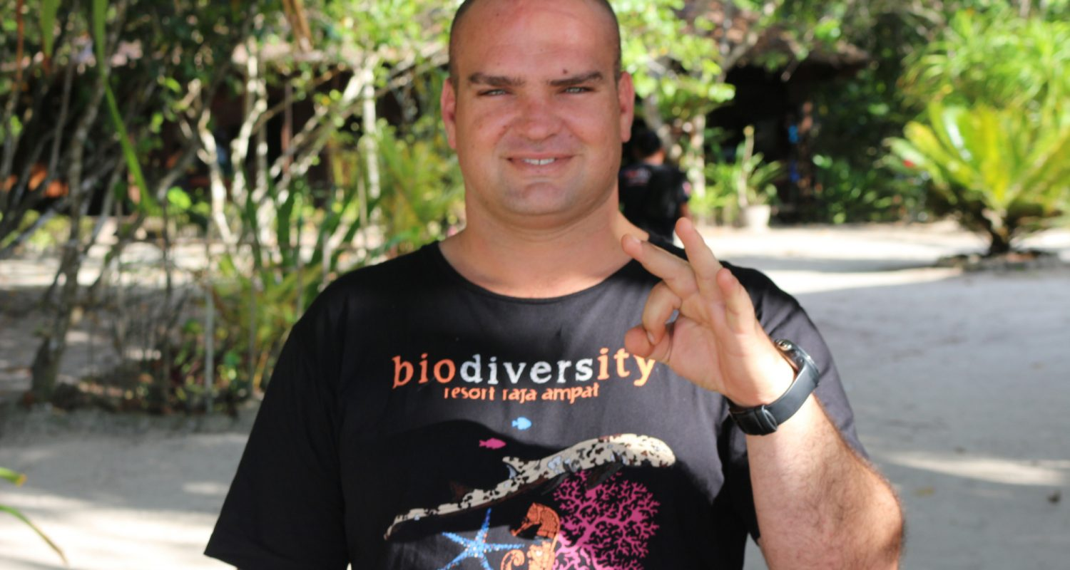 Tristan Jenkins joined Biodiversity as Dive Centre Manager in June 2019. He started diving from a young age and took his passion for diving to a professional level. He has been an instructor for 16 Years for both SSI and PADI. His specialities are in Deep diving, Night diving, Peak performance, Search & rescue & photography.